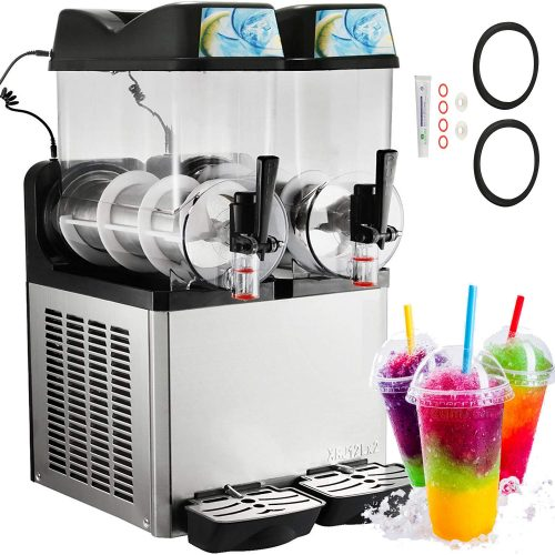 Happybuy Slushy Machine 110V Margarita Maker Frozen Drink Machine Commercial Smoothie Maker Slushy Making Machine Suitable for Commercial Use (12L x 2 Tank) TOP 10 BEST MARGARITA MACHINES FOR SALE IN 2019 REVIEWS
