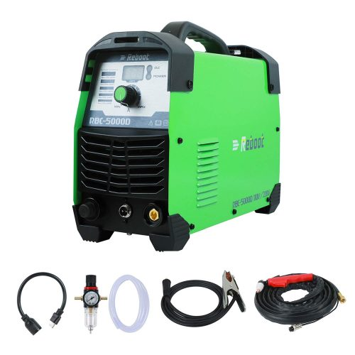 "REBOOT Plasma Cutter 50Amps,110/220V Dual Voltage Plasma Cutting Machine Compact Metal Cutter AC 1/2"" Clean Cut Inverter Cutting for Home DIY"