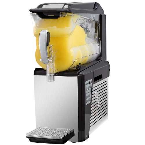 VBENLEM 110V Slushy Machine 10L Single Bowl Slush Frozen Drink Machine 500W Frozen Drink Maker Ice Slushies for Supermarkets Cafes Restaurants Snack Bars Commercial Use