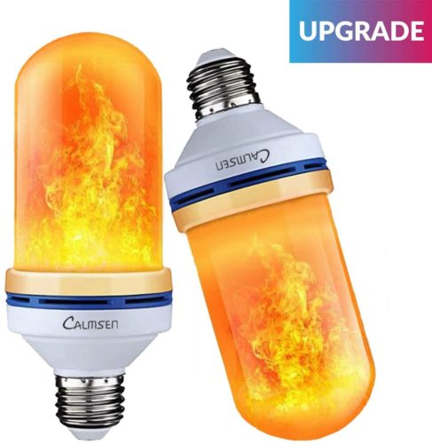 【Upgraded Version】Calmsen LED Flame Effect Light Bulbs, E26 E27 Flickering Light Bulbs with 4 Modes, 3W 96 LED Flame Light Bulbs for Christmas, Home Decor, Party, Restaurant, Outdoor - 2 Pack TOP 10 BEST LED FLAME BULB IN 2021 REVIEWS