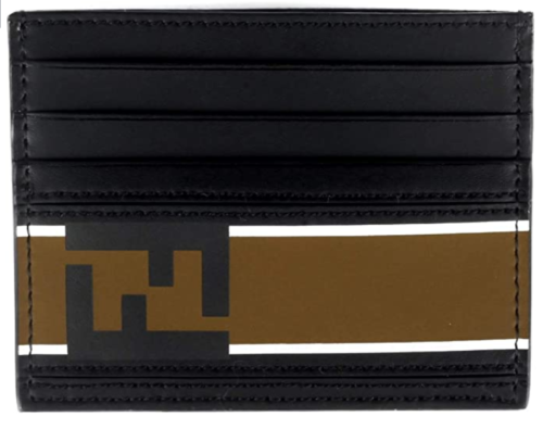Fendi-Signature-Leather-Stripe-7M0164 Fendi Wallets
