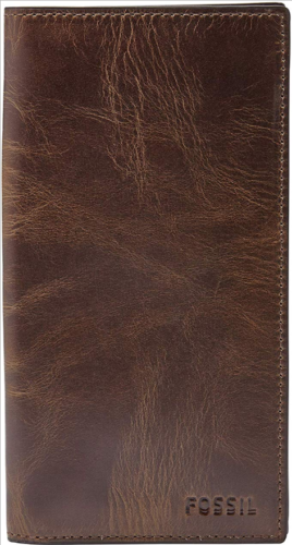 Fossil-Leather-Executive-Wallet-Brown