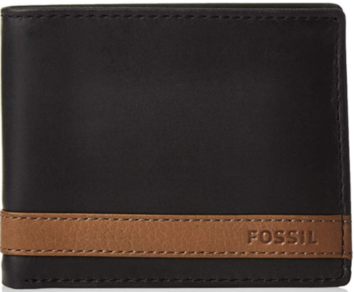 Fossil-Mens-Bifold-Wallet-Black