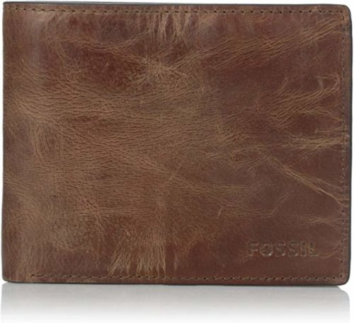 Fossil-Mens-Bifold-Wallet-Brown