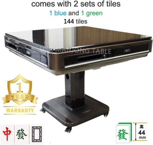 Easy-Assembly-in-30min-44mm-大尺寸自动麻将桌-Unfoldable-Automatic-Mahjong-Table-Ultra-Thin-w-Wheels-Chinese-Style-Comes-2-Sets-of-44mm-Large-Tiles-Not-Fit-166-American-Mahjong-Table-Cover
