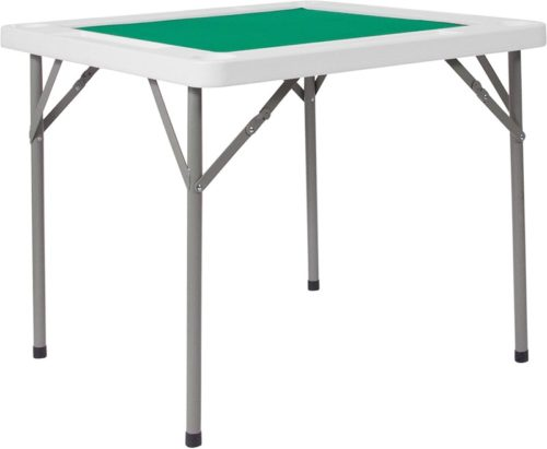 Flash-Furniture-34.5-Square-Granite-White-Folding-Game-Table-with-Green-Playing-Surface-DAD-MJZ-88-GG