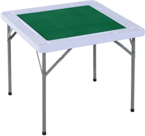 HOMCOM-35-4-Player-Mahjong-Game-Portable-Folding-Table-for-Poker-Dominoes-Card-with-Cup-and-Coin-Holders