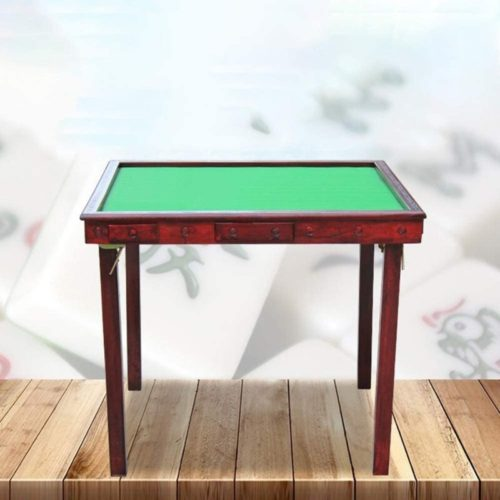 Iddefee-Mahjong-Game-Portable-Folding-Table-Folding-Mahjong-Table-Simple-Home-Hand-wash-Chess-Square-Simple-Dual-use-Mahjong-Table-for-Poker-Dominoes-Card-Color-Red-Size-One-Size