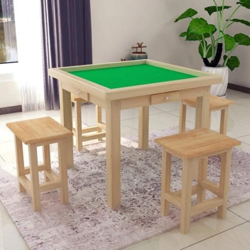 Mahjong Table Mah Jong Table Mah Jong Equipment with 4 Drawers, Cover Dining Table Dual Use 37.4x37.4x29.5 Inches Non-Automatic (Size : 959575 cm)