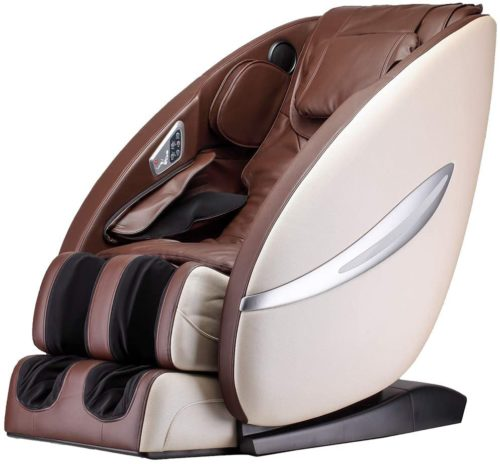 Massage Chair Recliner with Built-in Heat Therapy Foot Roller Air Massage System SL-Track Stretch Vibrating Wireless Bluetooth Speaker