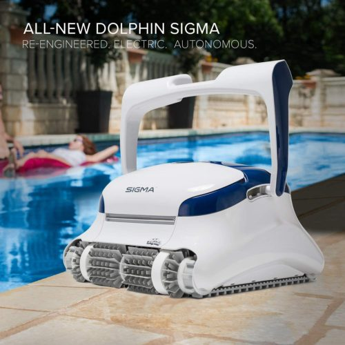 DOLPHIN Sigma Robotic Pool Cleaner with Bluetooth and Massive Top-Load Cartridge Filters, Ideal for Pools up to 50 Feet. TOP 10 BEST ROBOTIC POOL CLEANERS IN 2021 REVIEWS