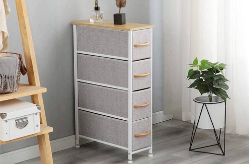 McNeil Fabric Tall Narrow Dressers with Drawers