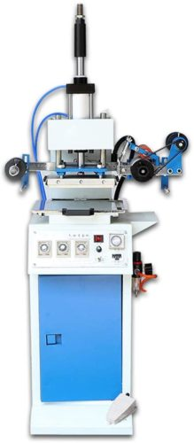 Hanchen Pneumatic Stamping Machine Leather Bronzing Creasing Machine Hot Foil Branding Machine Embossor for Leather, Paper, PU Paper, Plastic, Wood Block 110V BY140 (Large Stamping Area:20x32cm 500kg)