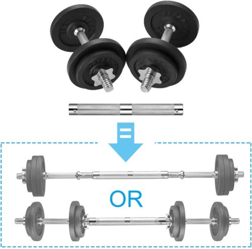 PAPABABE Adjustable Dumbbells Cast Iron with Connector 40 50 65 105 200, Adjustable Dumbbell Sets, Lifting Dumbells.