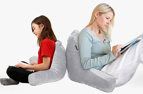 Milliard Back Rest Reading Pillows with Shredded Memory Foam