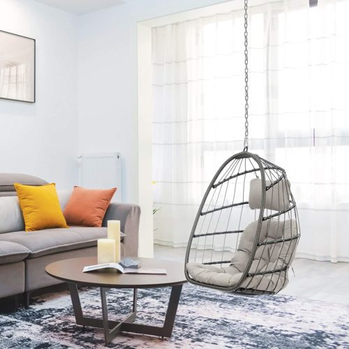 hanging steel chain egg chair
