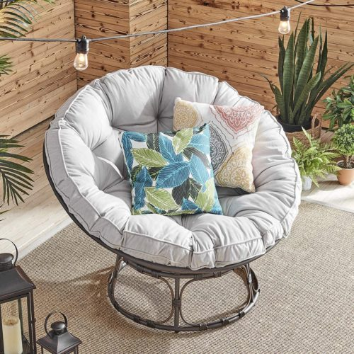 Barton Papasan Chair Round Chair with Soft Cushion