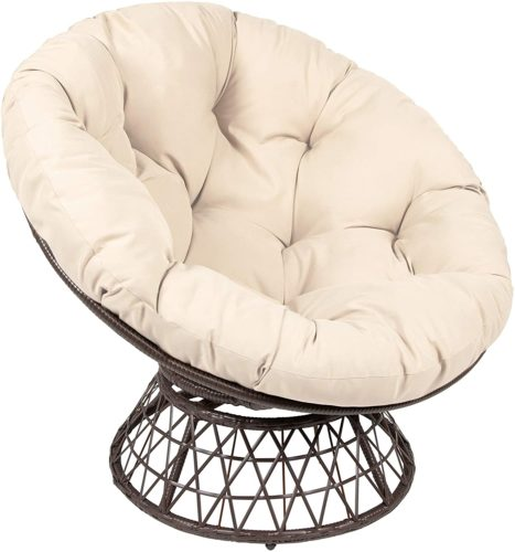 Milliard Papasan Chair with 360-degree Swivel,