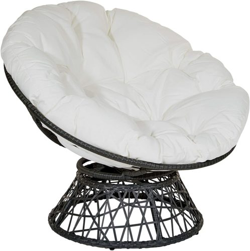 Papasan Chair with 360-degree Swivel