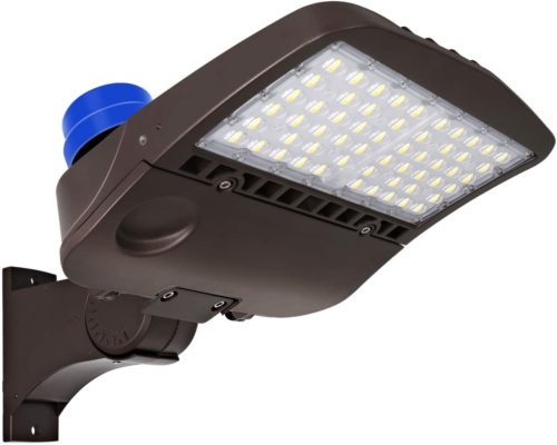 LED Parking Lot Lighting with Photocell,200W 27,000LM (135LM/W)Dusk to Dawn LED Parking Lot Lights, 5000K Commercial LED Shoebox Area Lighting, Waterproof,[750W HPS Equivalent] Arm Mount