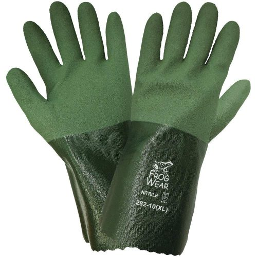 Global Glove 282 Nitrile Seamless Cotton Liner Glove, Extra Large, Green (Case of 72)